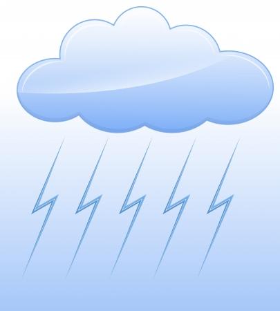 Stormy Cloud Vector Stock Vector - 16104502