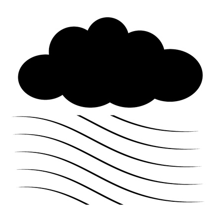 Cloud with Air Waves Silhouettes Stock Vector - 16101059
