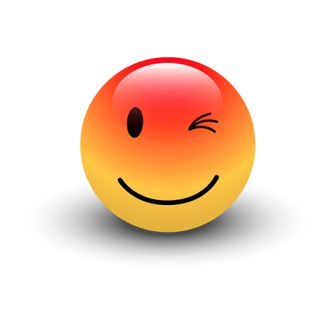 emoticone: Strizza l'occhio Smiley Vettoriali