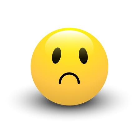 смайлик грустный красный: