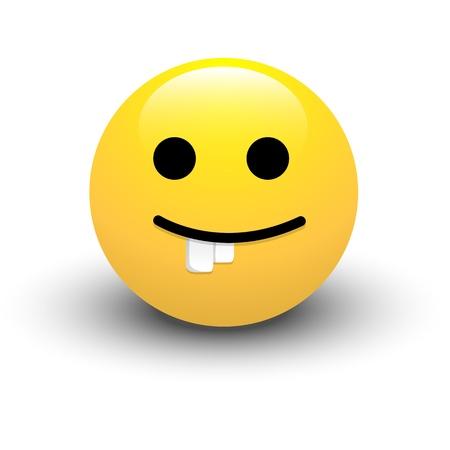 Dumb Smiley Icon Stock Vector - 16104709