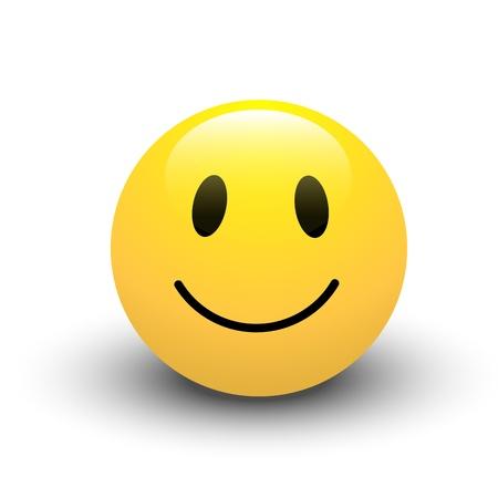 cara sonriente: Sonrisa del icono del vector