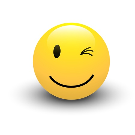 winking: Strizza l'occhio Smiley Vector