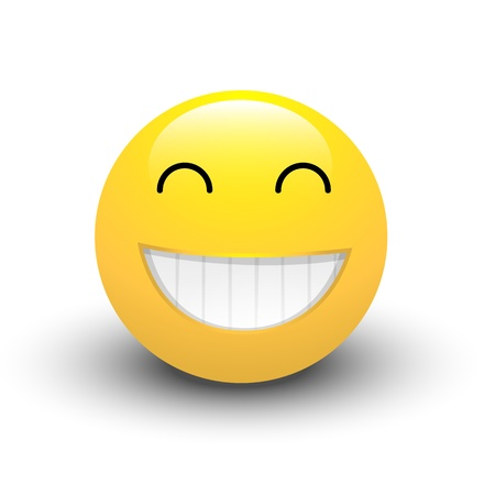 cara sonriente: Riendo Smiley Vectores