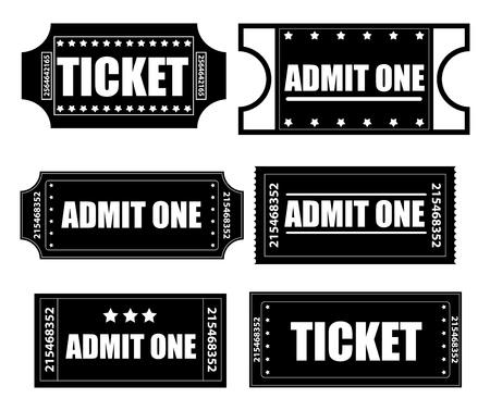 movie set: Tickets Vectors
