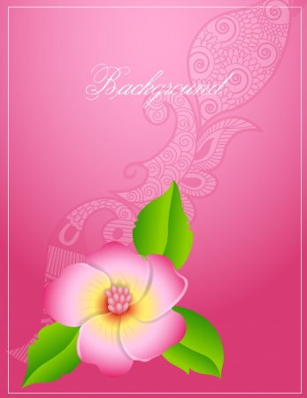 Pink Floral Vector Background Vector
