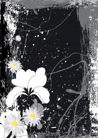 Vector Illustration - Retro Floral Background Vector