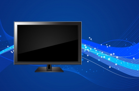 tv led: LCD TV LED PC Screen Monitor Vector Background