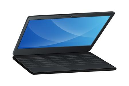Half Open Vector Laptop Stock Vector - 16106571