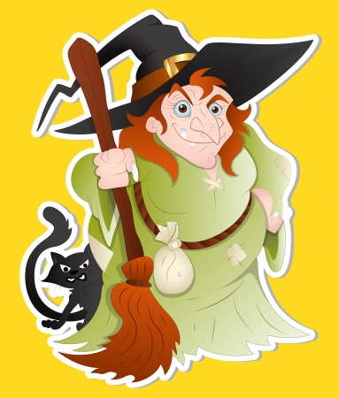 Witch Woman illustration Vector