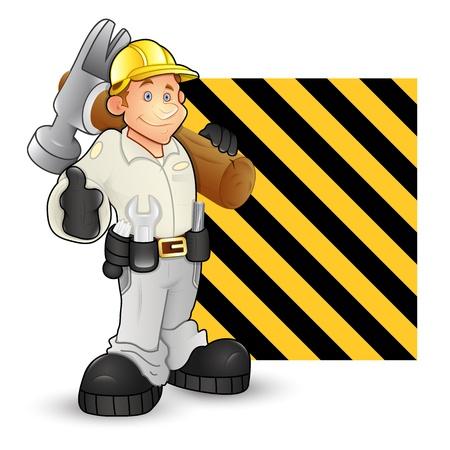 ingenieurs: Under Construction Karakter Vectoren Stock Illustratie
