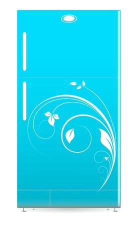 refrigerate: Refrigerador - Illustartion Vector Retro Fridge