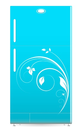Refrigerator - Retro Fridge Vector Illustartion Stock Vector - 16104600