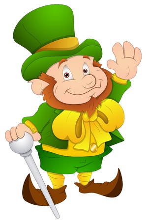 st patrick s day: St  Patrick s Day - Cartoon Character- Vector Illustration