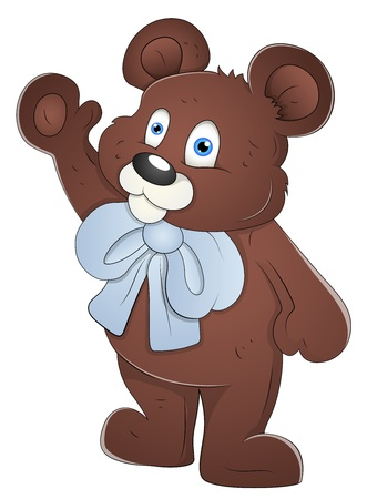 teddy bear cartoon: Teddy Bear - Cartoon Character - Vector Illustration