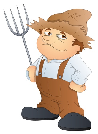 Farmer - Cartoon Character - Vector Illustration Stock Vector - 16349547