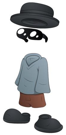 Hombre Invisible - Personaje de dibujos animados - ilustración vectorial
