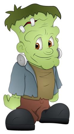 clipart frankenstein: Frankenstein - Cartoon Character - Vector Illustration Illustration