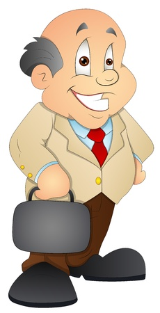 Businessman - Cartoon Character - Vector Illustration Stock Vector - 16349662