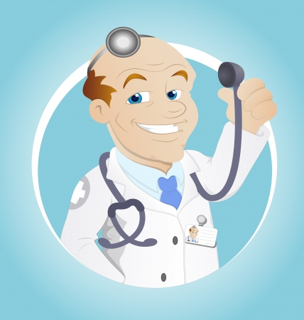 dental assistant: Doctor - Cartoon Character - Vector Illustration Illustration