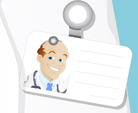 dental assistant: Doctor Identity - Cartoon Character - Vector Illustration