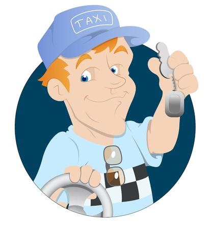 Taxi Driver Stock Vector - 16349651