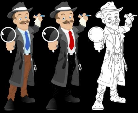 Detective - Cartoon Character - Vector Illustration Stock Vector - 16349764