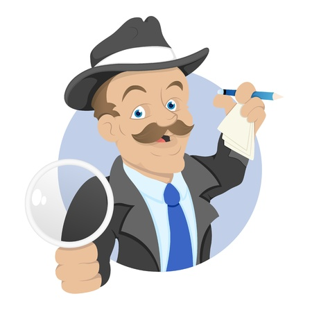 Detective - Cartoon Character - Vector Illustration Stock Vector - 16349750