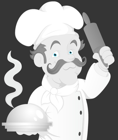 Vintage Chef Illustration Vector