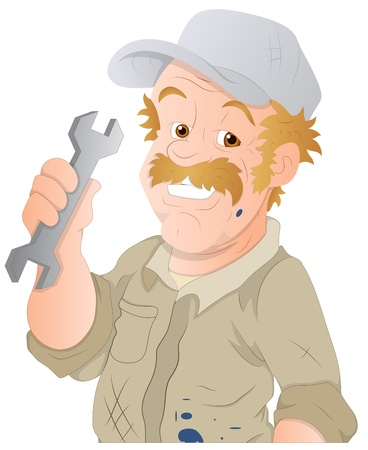 Car Repairman  Vector