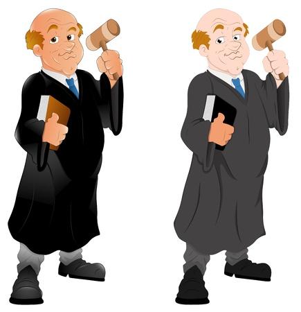Rechter - Karakter Illustratie Vector Illustratie