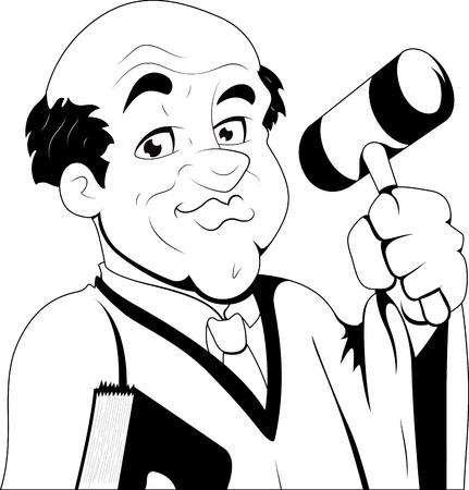 Judge -  Character Illustration Vector
