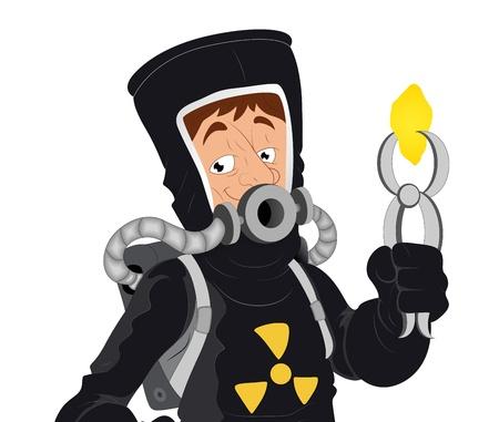 Uranium -  Character Illustration Stock Vector - 16775528