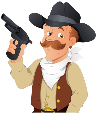 Cowboy -  Character Illustration Vector