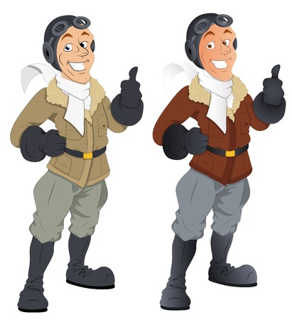 Pilot -  Character Illustration Vector