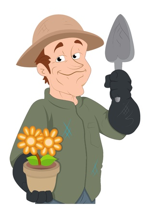 Florist -  Character Illustration Vector