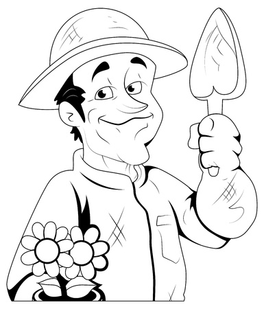 Gardener -  Illustration Stock Vector - 16775308