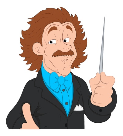 Music Director  Character Illustration Vector