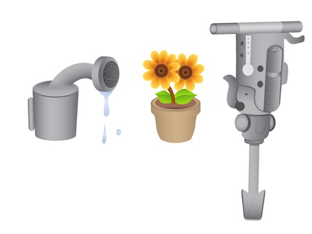 Gardening Tools Stock Vector - 16775534