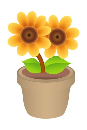Flower Pot  Illustration Stock Vector - 16775307