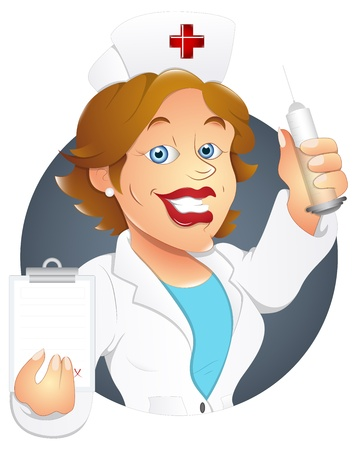 medical assistant: Enfermera - Ilustraci�n del personaje Vectores