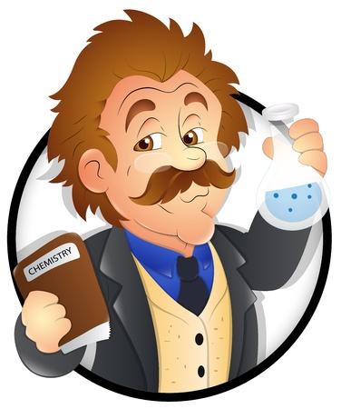 Scientist - Character Illustration Vektorové ilustrace