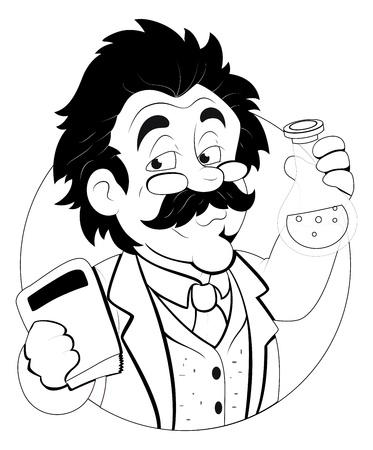 profesor: Scientist - Car�cter Ilustraci�n Vectores