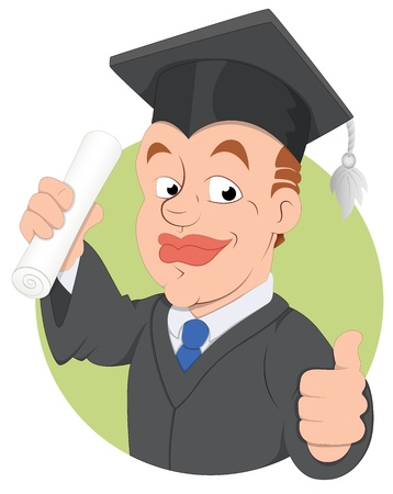 Graduation Day -  Character Illustration Vector