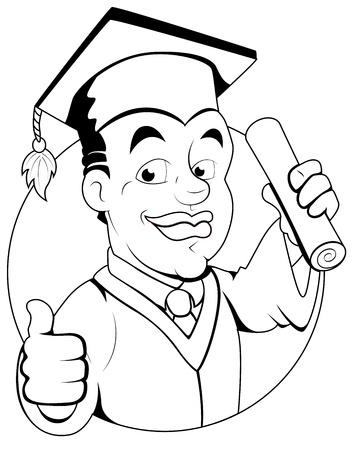 graduacion caricatura: Graduation Day - Personaje Ilustraci�n