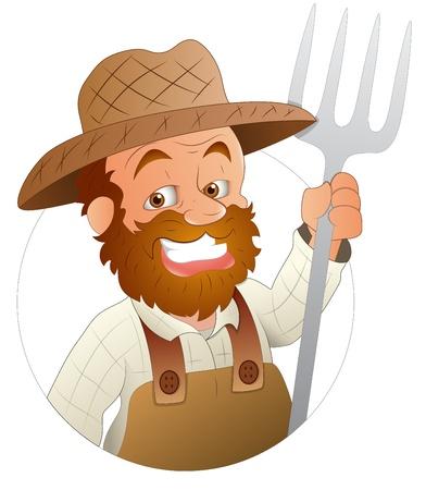 joven agricultor: Farmer - Personaje Ilustraci�n