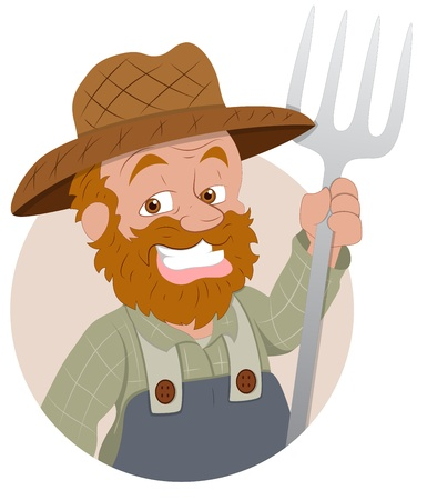Farmer -  Character Illustration Vector