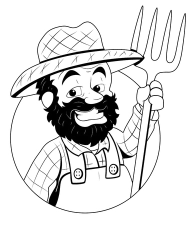 hillbilly: Farmer -  Illustration Illustration