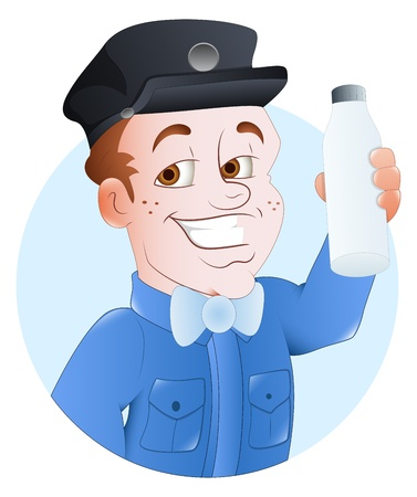 Milkman -  Character Illustration Vector