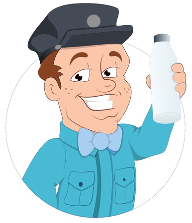 Milkman -  Character Illustration Stock Vector - 16775459
